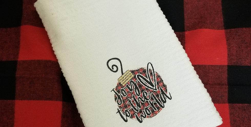Joy to the World Ornament Tea Towel