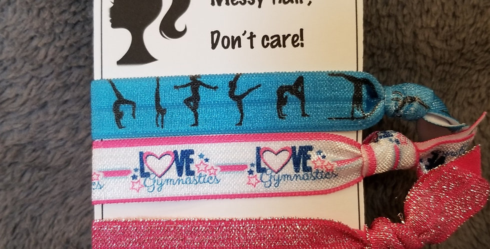 Love Gymnastics Hair Ties