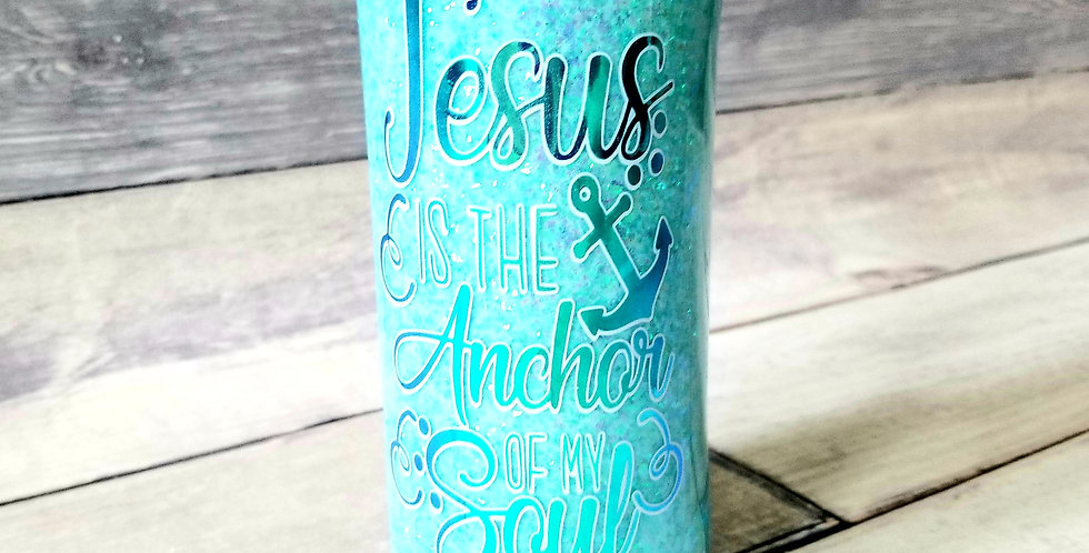 Jesus Is The Anchor Slim Can Koozie