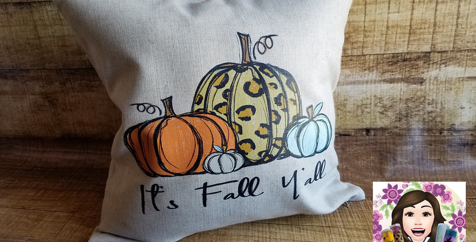 It's Fall Y'all Pillow Cover