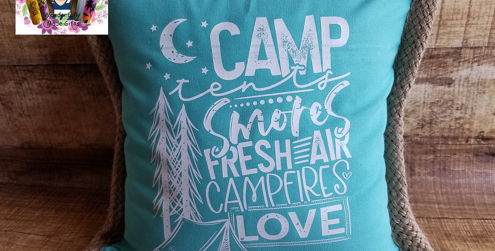 Camp Love Pillow Cover