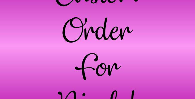 Custom Order For Nicole N.