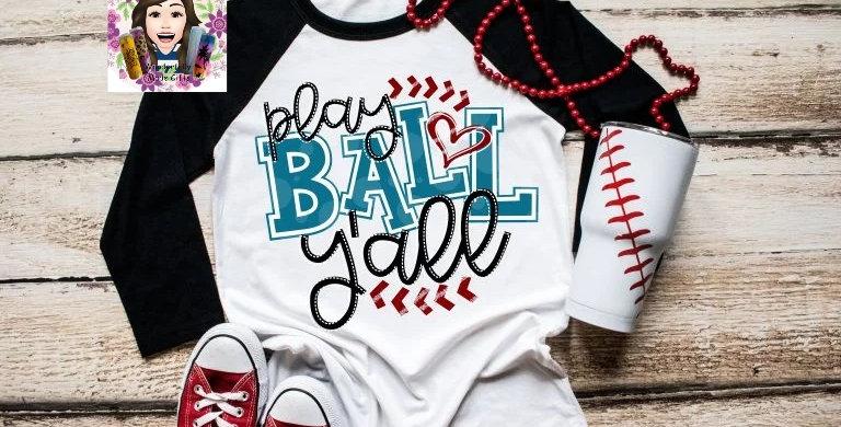 Play Ball Ya'll Raglan