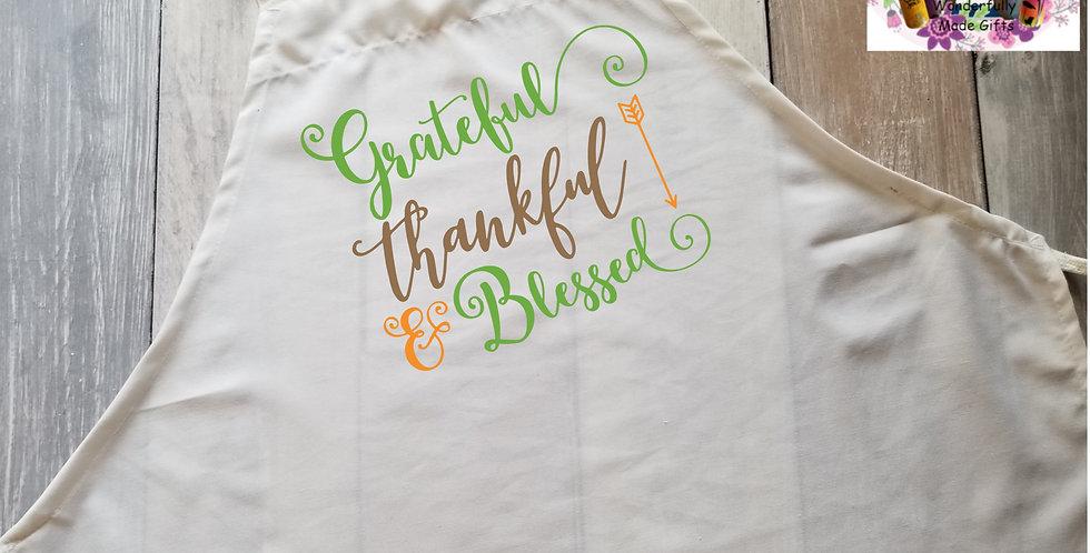 Grateful, Thankful, & Blessed Apron