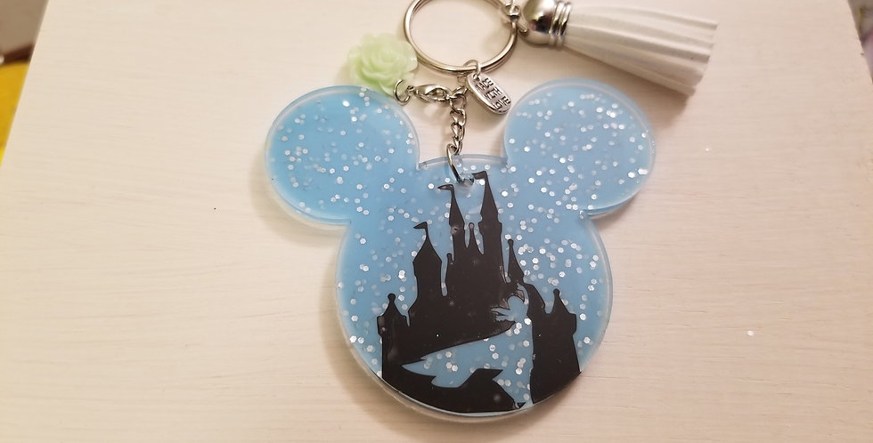 Elsa Mouse Keychain