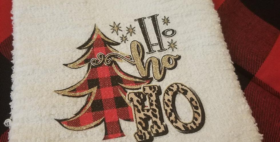 Leopard Ho Ho Ho Tea Towel