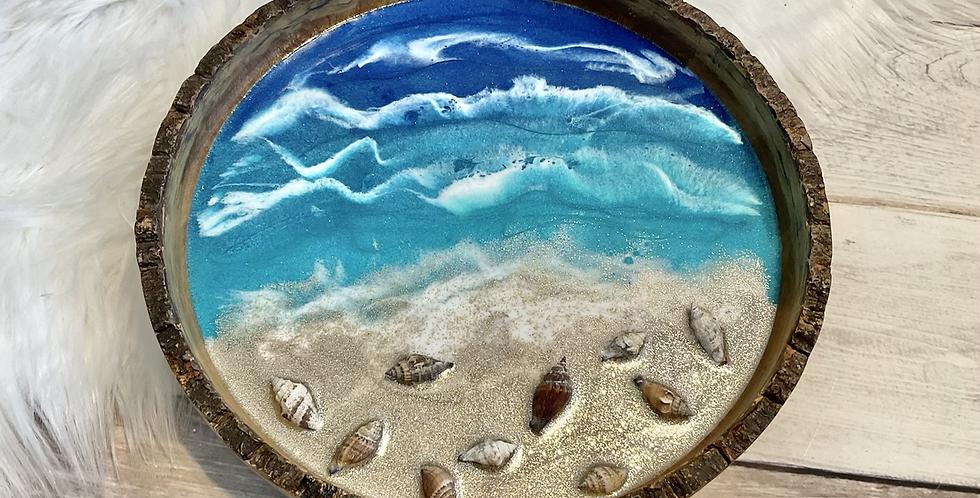 Live Edge Round Ocean Tray