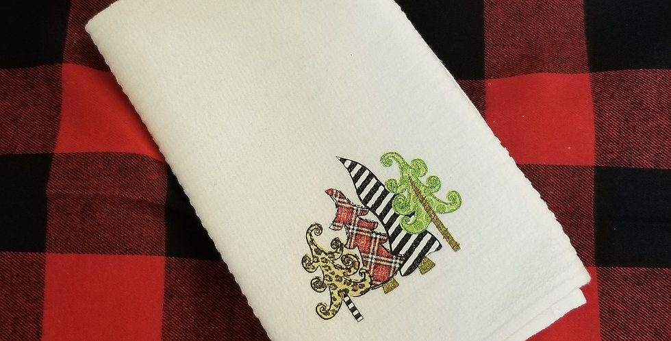 Silly Trees Christmas Tea Towel
