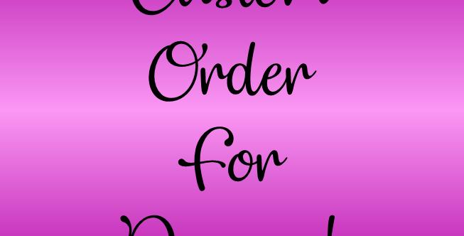 Custom Order for Deaven