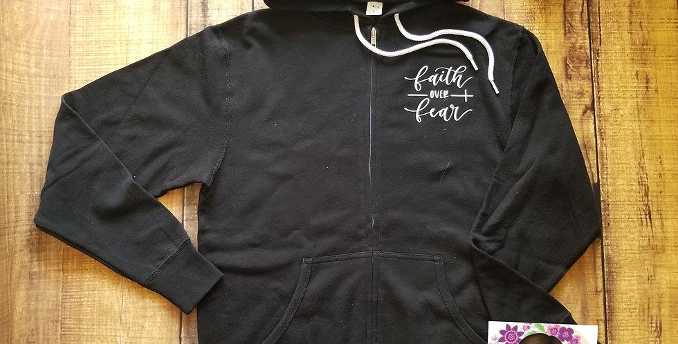 Faith Over Fear ZipUp Hoodie