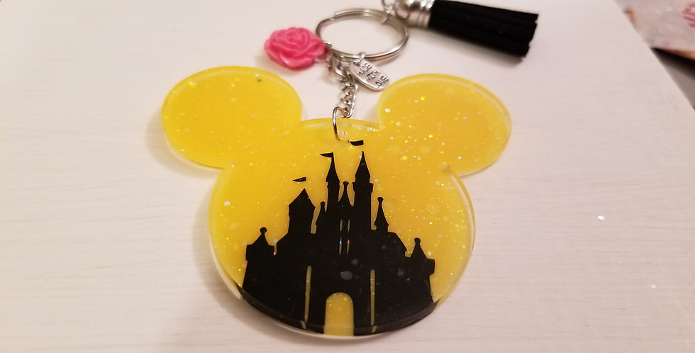 Castle Mouse Keychain