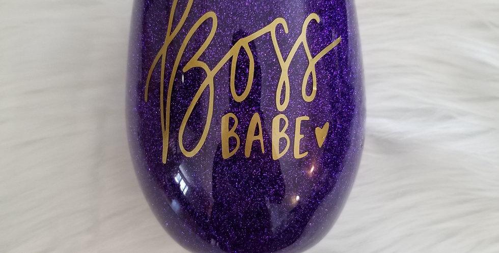 Boss Babe Wine Glass