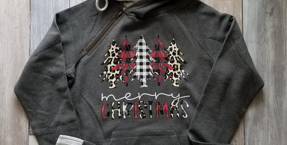 Merry Chrismtas Trees Double Hoodie
