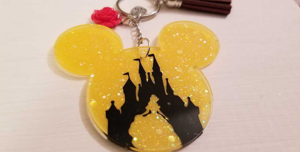 Belle Mouse Keychain