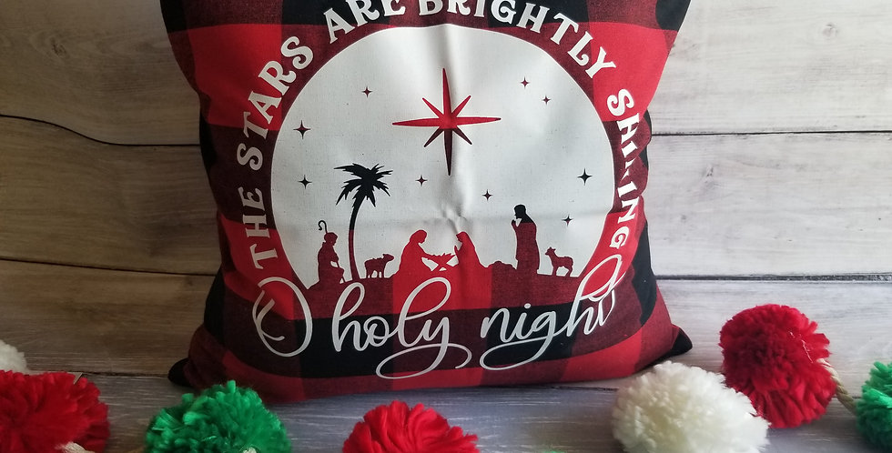 Oh Holy Night Pillow Cover