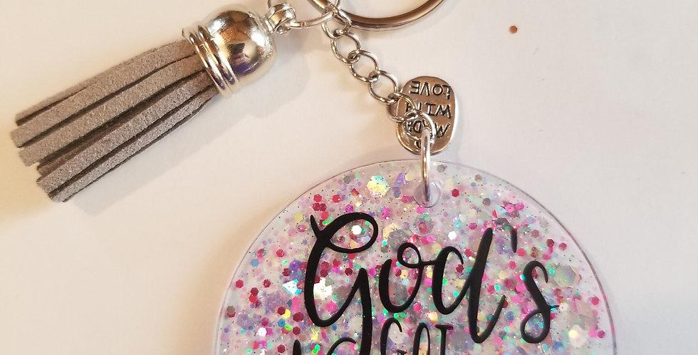 God's Got This Glitter Keychain