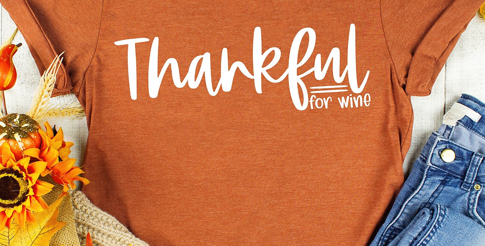 Thankful for Wine Tee