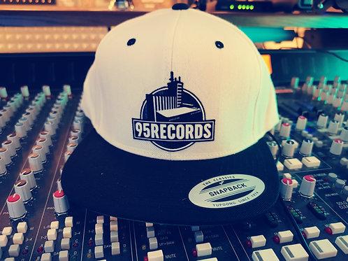 "95Records Snapback Caps ""White/Black"""