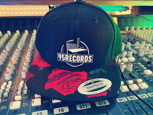 """95Records Wmns Snapback Caps """"DarkRedRoses"""""""