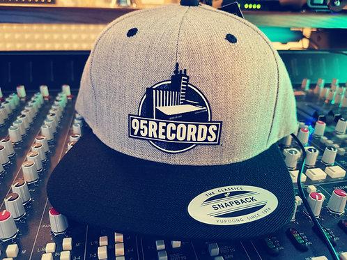 """95Records Snapback Caps """"ClassicGrey/Black"""""""