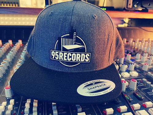 "95Records Snapback Caps ""DarkGrey/Black"""