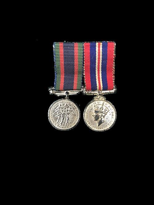 Medalla del ServicioVoluntario de Canadá y Medalla Jorge VI (WWII)