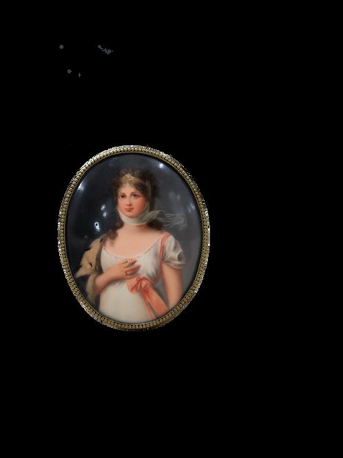 Miniaturas de Napoleón y Josefina