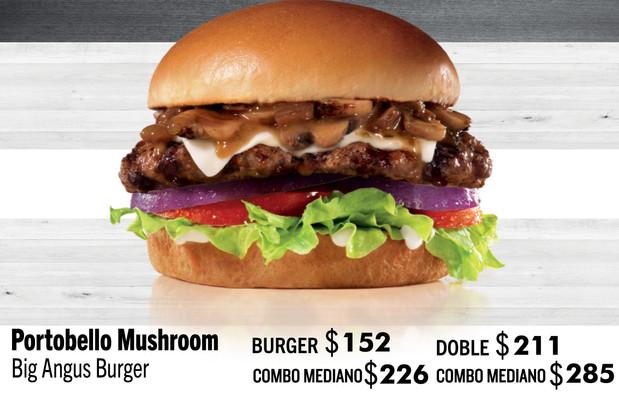 Portobello Mushroom Big Angus Burger