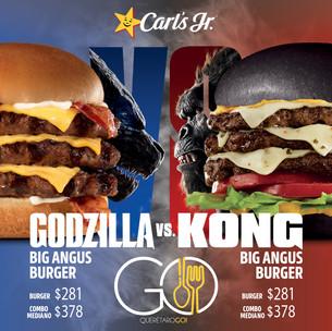 Godzilla Big Angus Burger vs Kong Big Angus Burger