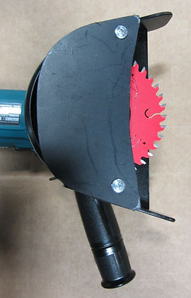 cut-off saw for evenly cutting culvert or riser pipe ultra rib