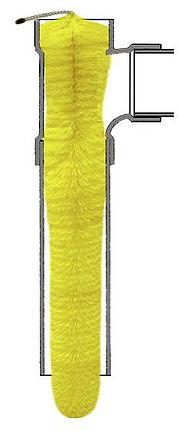 4 inch bristle brush style gravity flow effluent filter