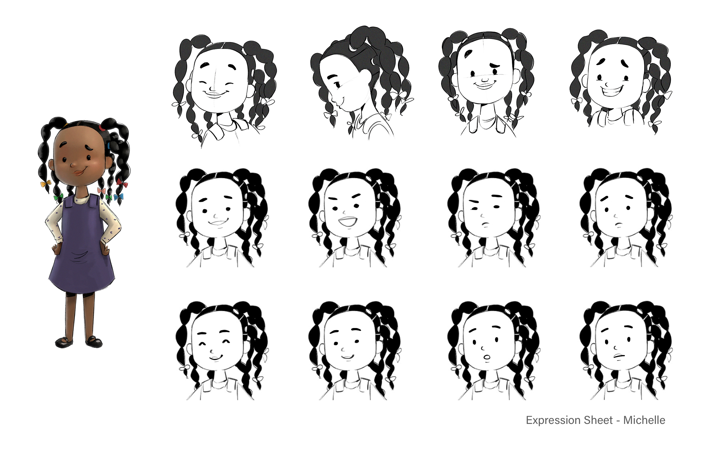 Michelle Expression Sheet
