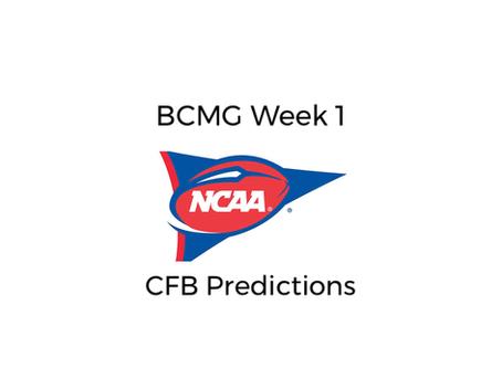 BCMG Week 2 CFB Predictions