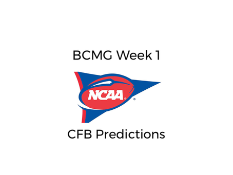BCMG Week 2 CFB Predictions