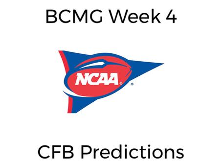 BCMG Week 4 CFB Predictions