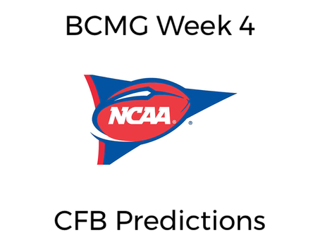 BCMG Week 4 CFB Predictions