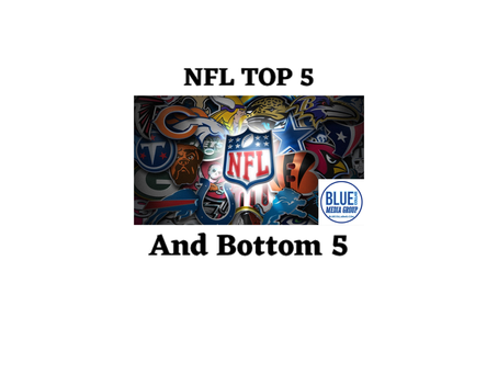 NFL Top 5 and Bottom 5