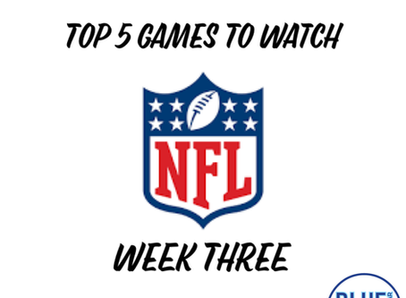 Top 5 Games To Watch - Week 3