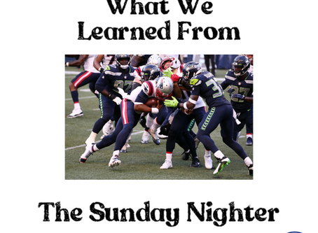 What We Learned From The Sunday Nighter