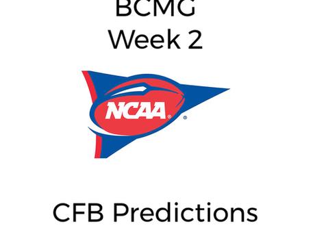 BCMG Week 3 CFB Predictions