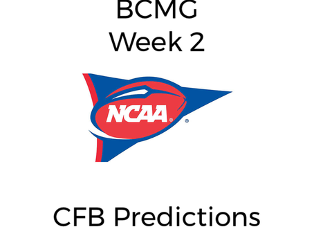 BCMG Week 3 CFB Predictions