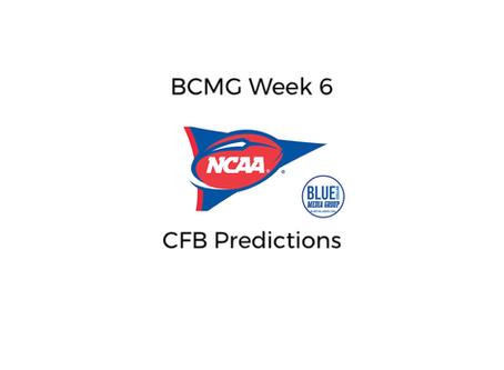 BCMG Week 6 CFB Predictions