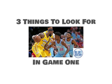 3 Things To Look For In Game One