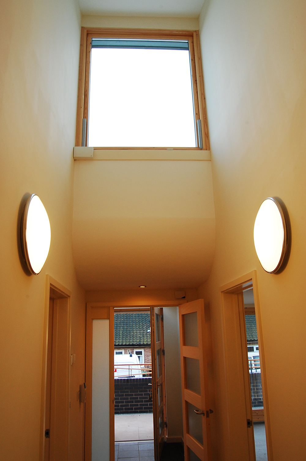 internal photo of window with lights