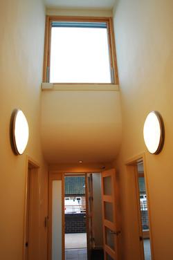internal photo of window with lights