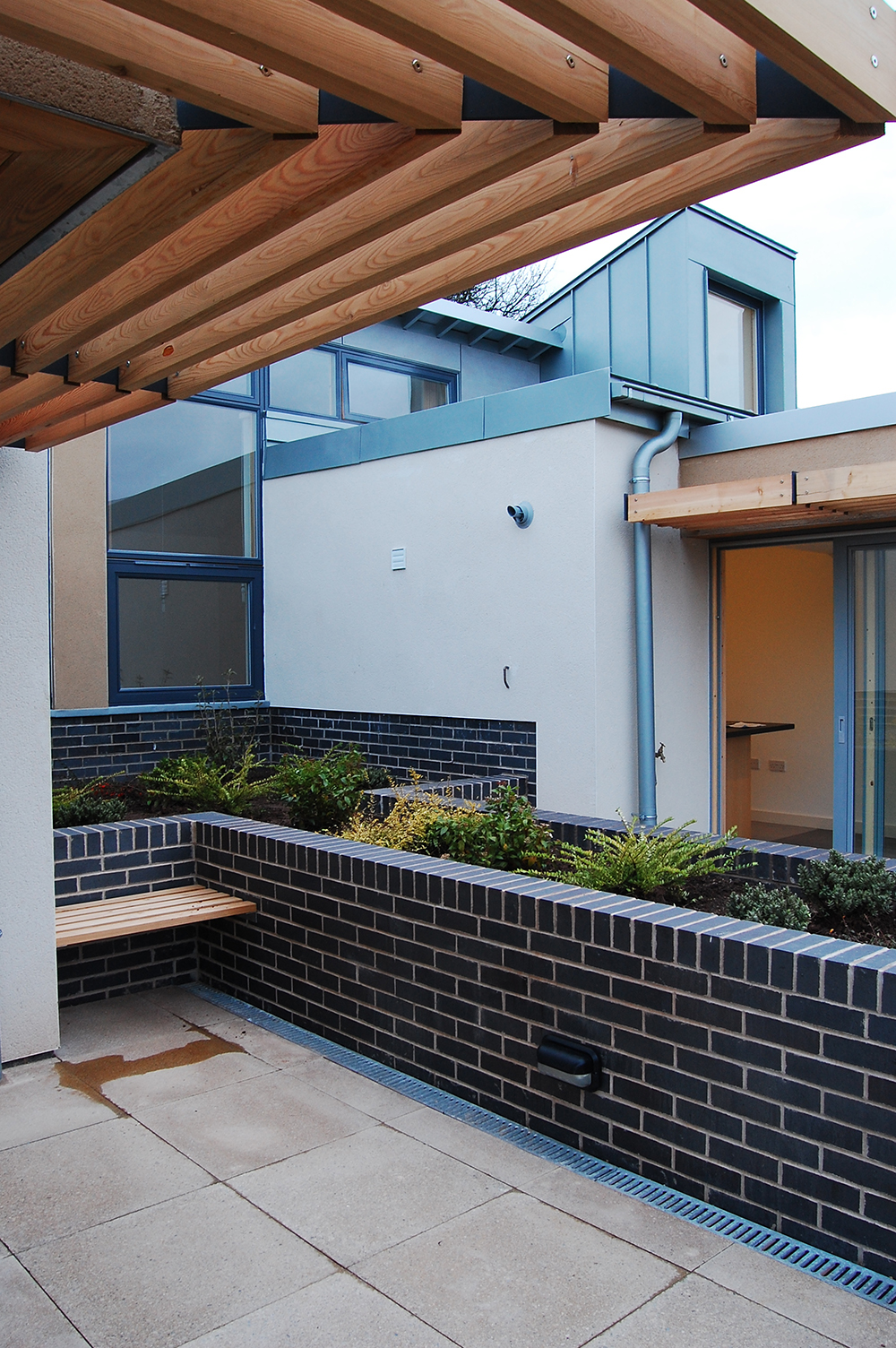 zinc cladding with render