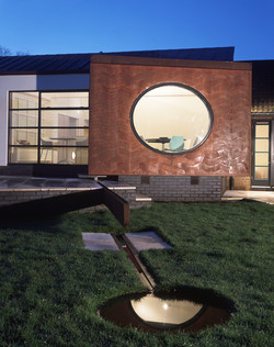 copper cladding with round window
