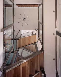 view up the modern staircase