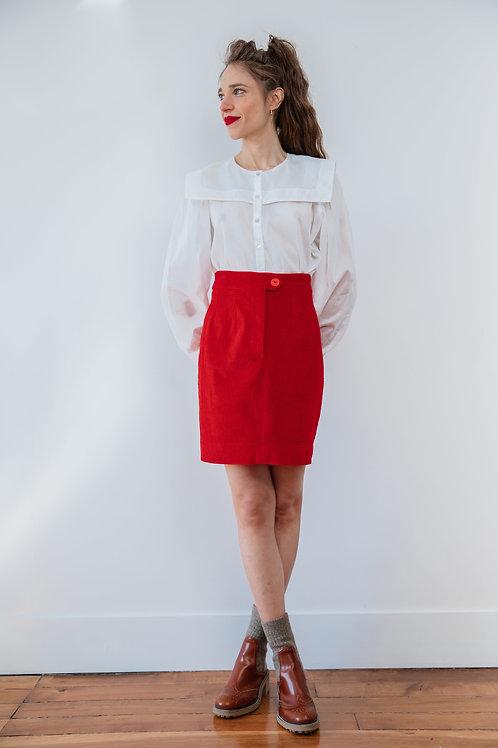 Jupe Lucette rouge