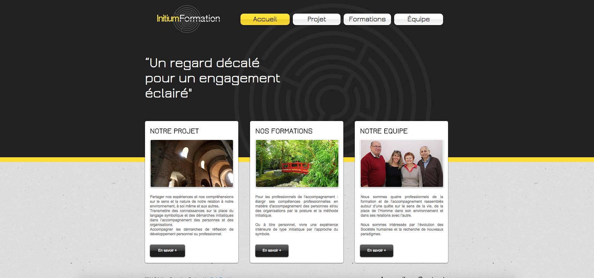 Site Web |  INITIUM FORMATION
